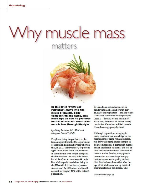 Why muscle mass matters by Ashley Bronston, MS, RDN, and Menghua Luo, MD, PhD-5699