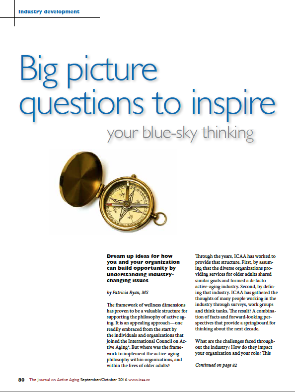 Big picture questions to inspire your blue-sky thinking by Patricia Ryan, MS-5702