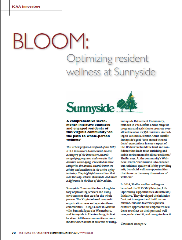 BLOOM: Optimizing resident wellness at Sunnyside-5711