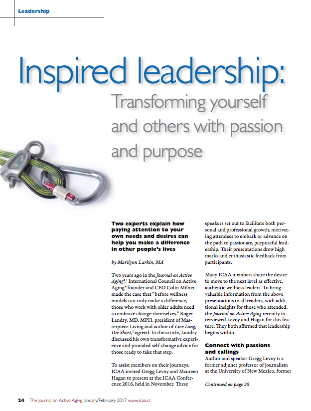 Inspired leadership: Transforming yourself and others with passion and purpose by Marilynn Larkin, MA-5774