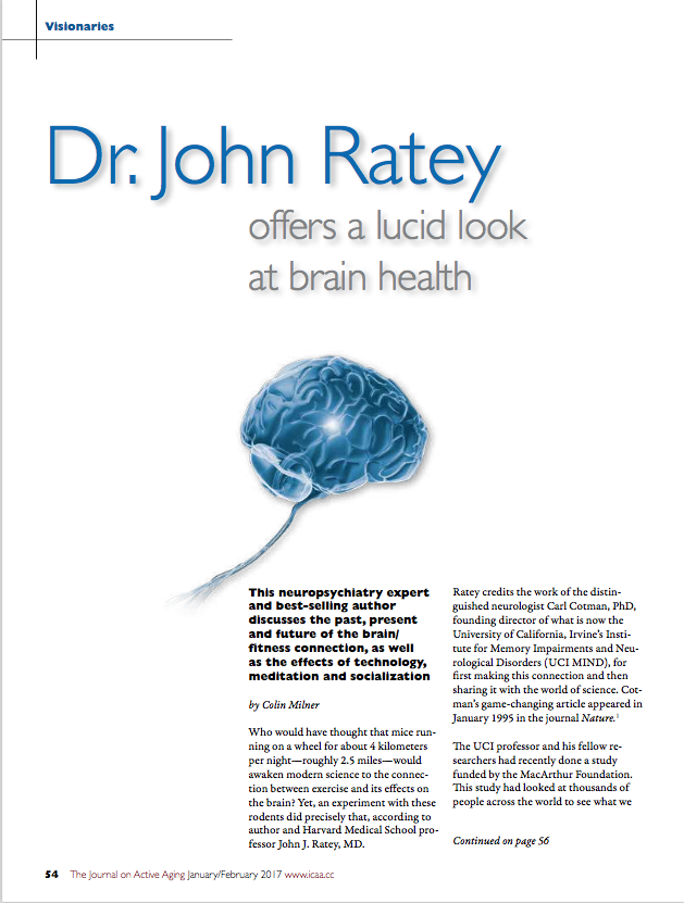 Dr. John Ratey offers a lucid look at brain health by Colin Milner-5780