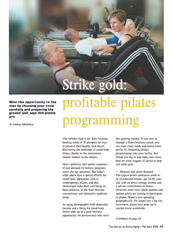 Strike gold: profitable pilates programming by Lindsay Merrithew-58
