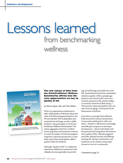 Lessons learned from benchmarking wellness by Patricia Ryan, MS, and Colin Milner-5800