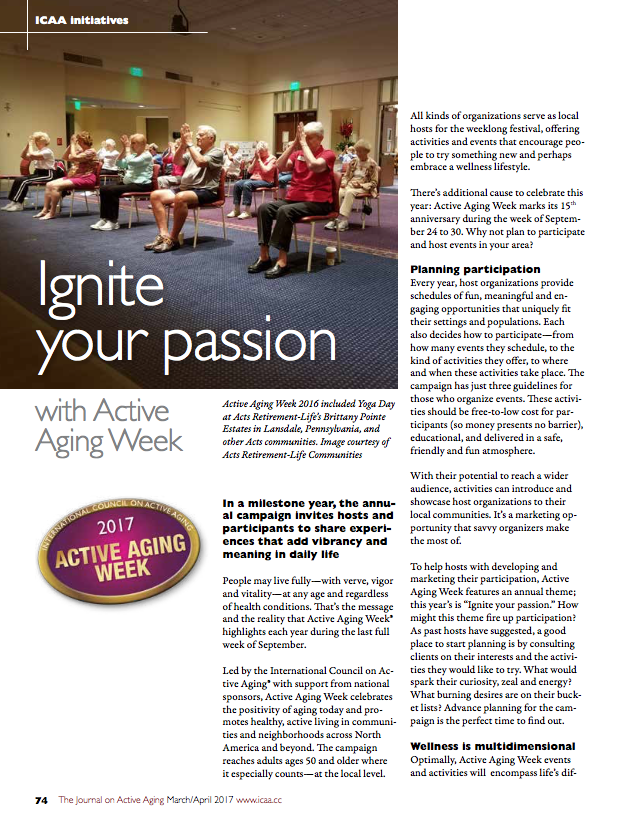 Ignite your passion with Active Aging Week-5811