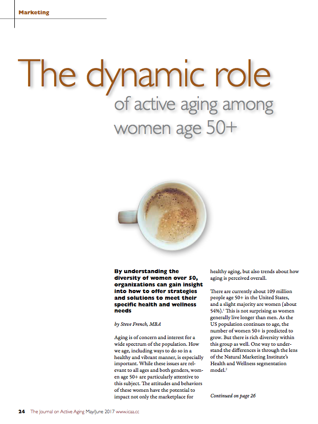 The dynamic role of active aging among women age 50+ by Steve French, MBA-5823