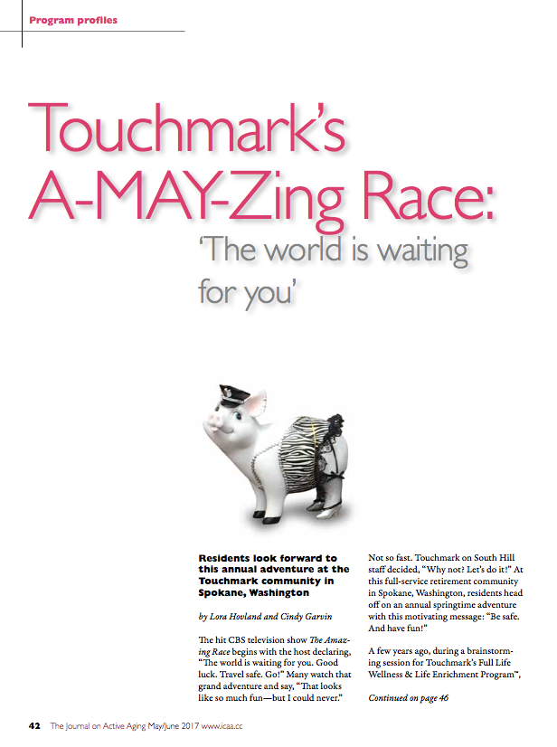 Touchmark's A-MAY-Zing Race: