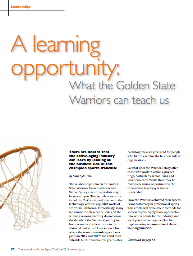 A learning opportunity: What the Golden State Warriors can teach us by Sara Kyle, PhD-5832