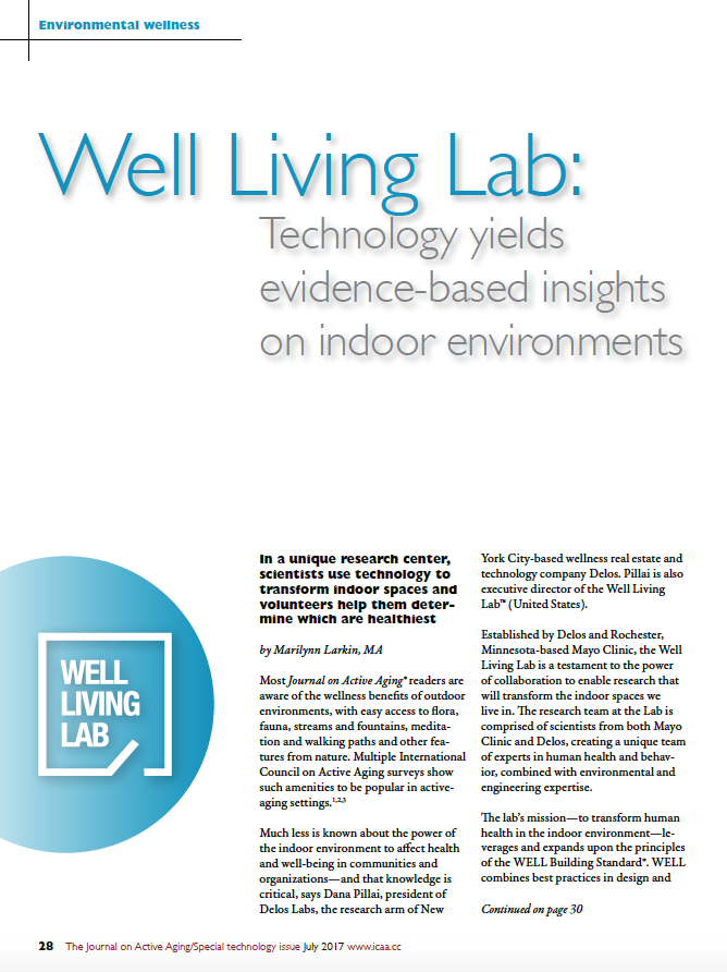 Well Living Lab: Technology yields evidence-based insights on indoor environments by Marilynn Larkin, MA-5874
