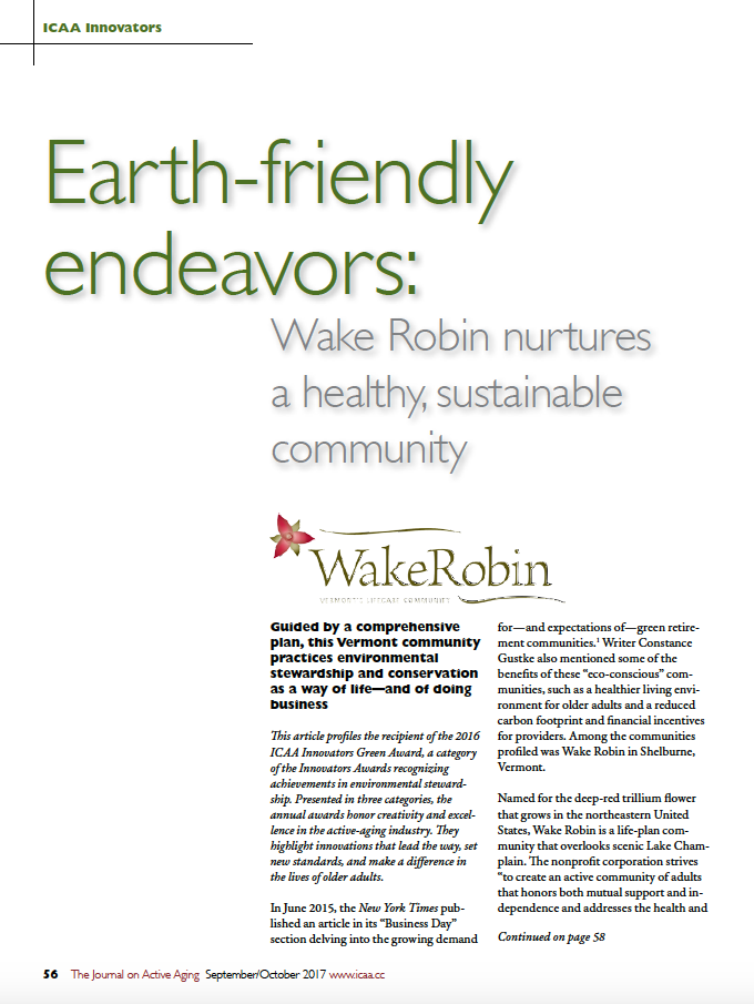 Earth-friendly endeavors: Wake Robin nurtures a healthy, sustainable community-5998