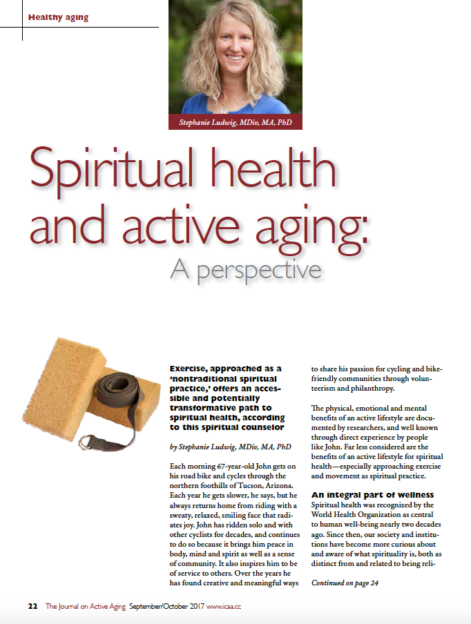 Spiritual health and active aging: A perspective by Stephanie Ludwig, MDiv, MA, PhD-6005
