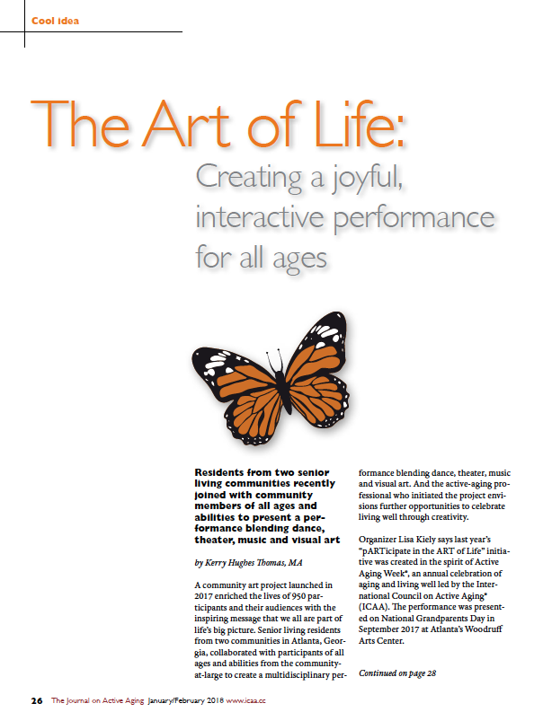 The Art of Life: Creating a joyful, interactive performance for all ages by Kerry Hughes Thomas, MA-6313