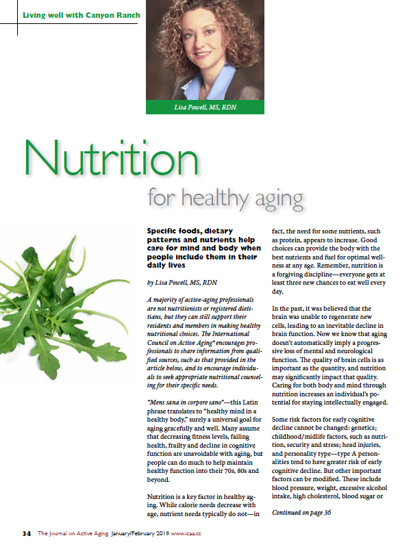 Nutrition for healthy aging by Lisa Powell, MS, RDN-6315
