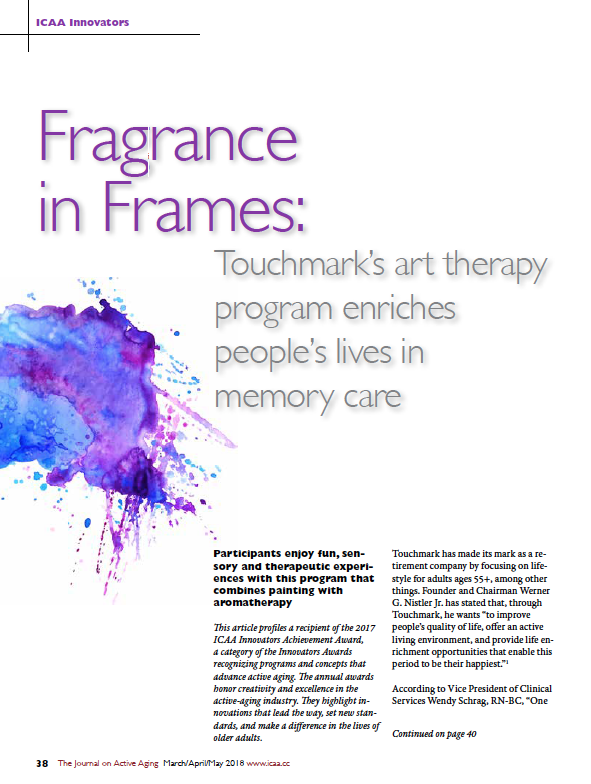 'Fragrance in Frames': Touchmark's art therapy program enriches people's lives in memory care-6400