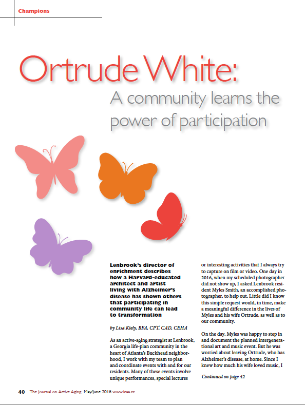 Ortrude White: A community learns the power of participation by Lisa Kiely, BFA, CPT, CAD, CEHA-6509
