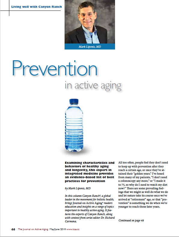 Prevention in active aging by Mark Liponis, MD-6512