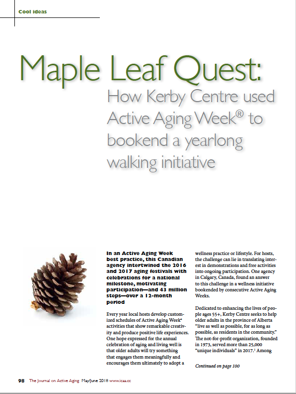 Maple Leaf Quest: How Kerby Centre used Active Aging Week to bookend a yearlong walking initiative-6514