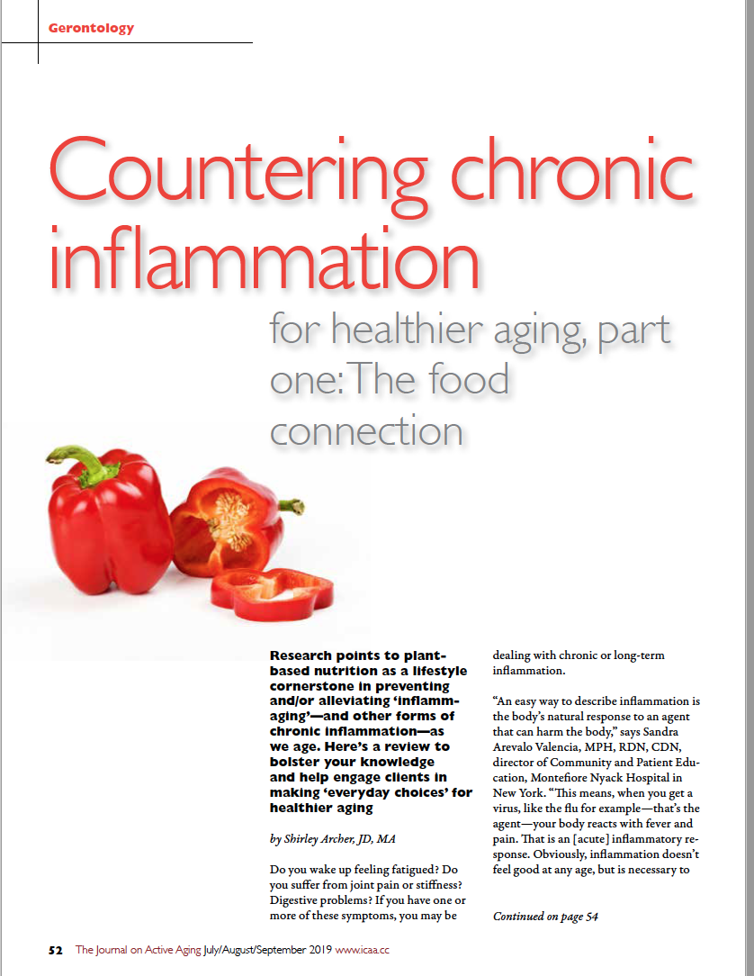 Countering chronic inflammation for healthier aging, part one: The food connection by Shirley Archer, JD, MA-7438