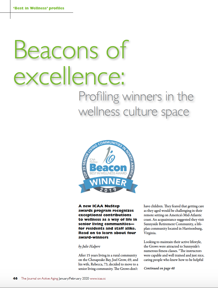 Beacons of excellence: Profiling winners in the wellness culture space by Julie Halpert-7960