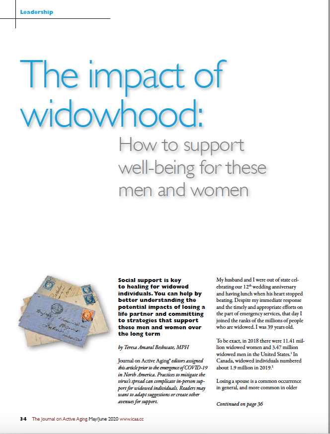 The impact of widowhood: How to support well-being for these men and women by Teresa Amaral Beshwate, MPH-8081