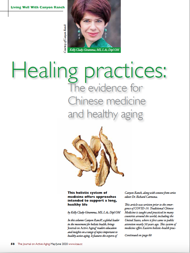 Healing practices: The evidence for Chinese medicine and healthy aging by Kelly Clady-Giramma, MS, LAc, Dipl OM-8091
