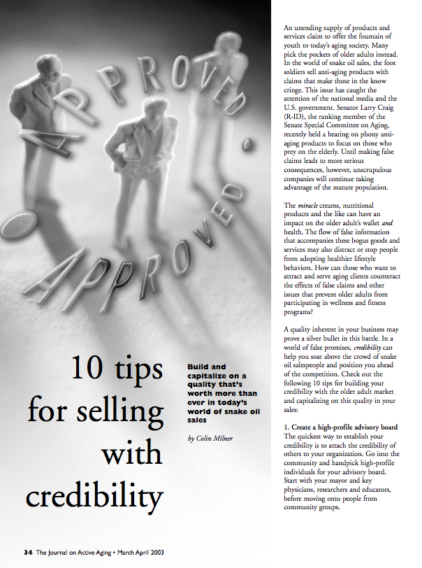 10 tips for selling with credibility by Colin Milner-96