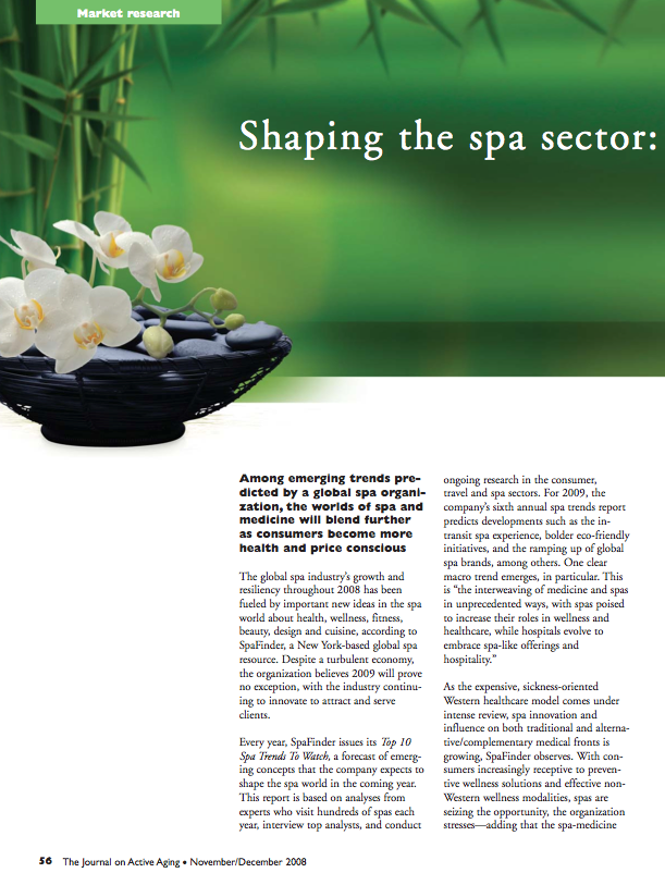 Shaping the spa sector: trends for 2009-977